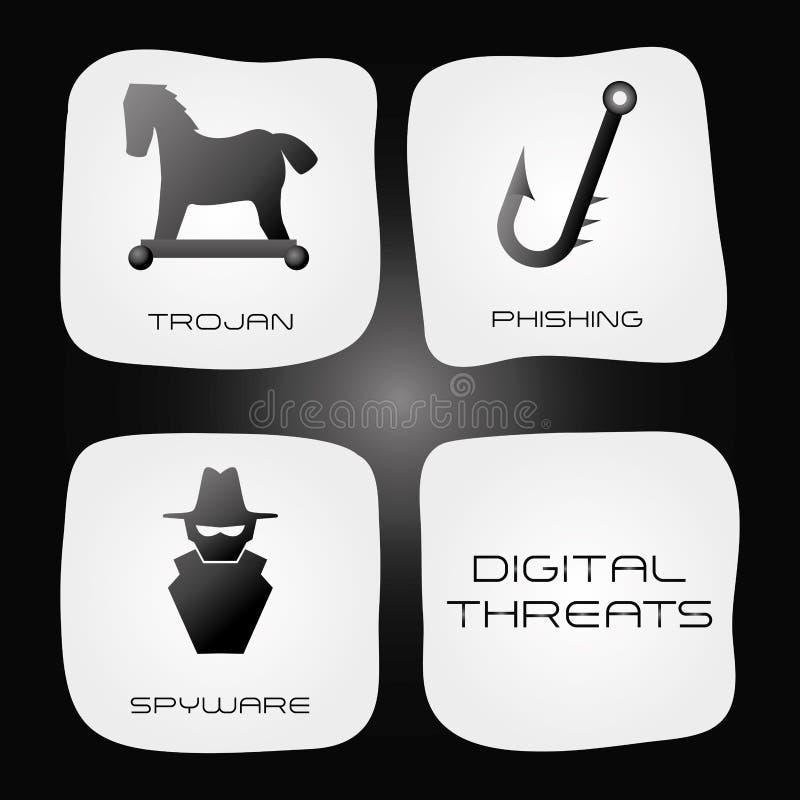 Φιλοξενία Ιστού και σχέδιο ασφαλείας δεδομένων διανυσματική απεικόνιση