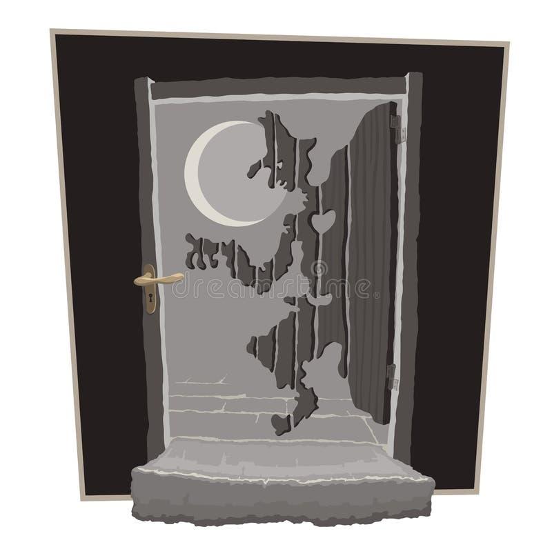 Φιλοξενούμενος μεσάνυχτων απεικόνιση αποθεμάτων