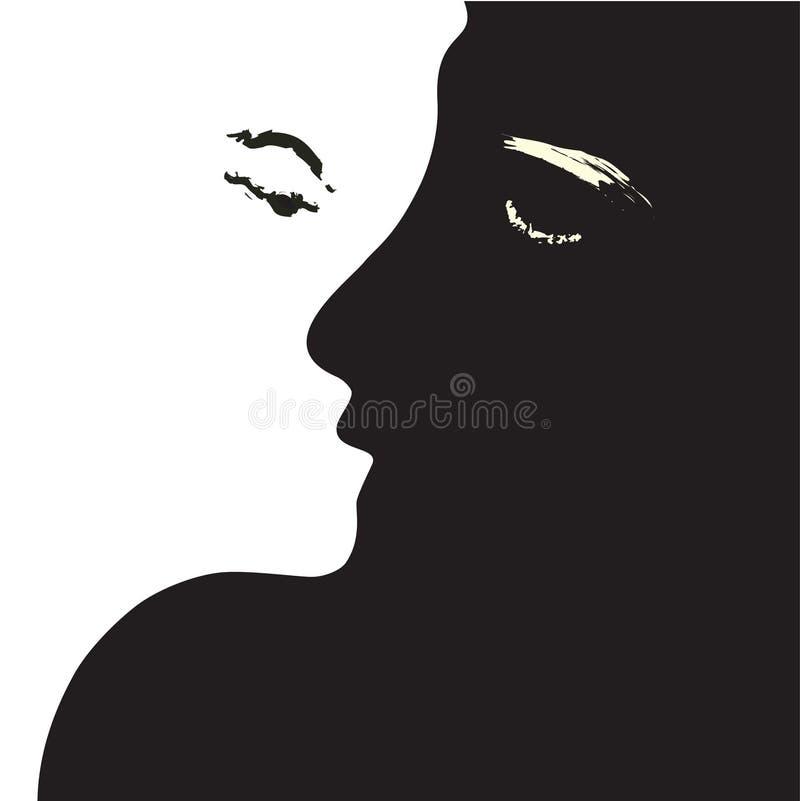 φιλώντας γυναίκα ανδρών ελεύθερη απεικόνιση δικαιώματος