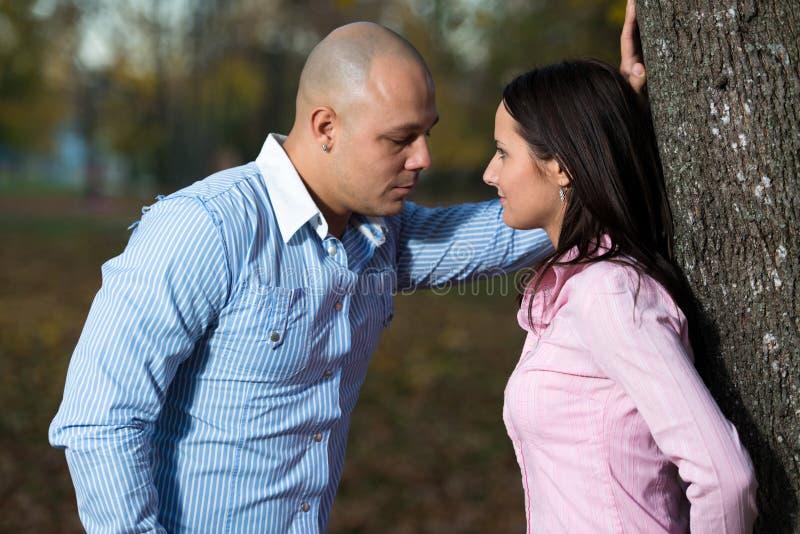 Φιλώντας ζεύγος στοκ εικόνες με δικαίωμα ελεύθερης χρήσης