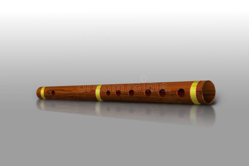φλάουτο μπαμπού ξύλινο ελεύθερη απεικόνιση δικαιώματος