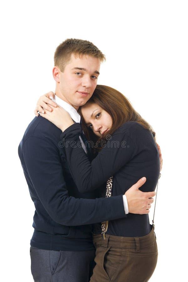 φλερτάροντας νεολαίες &z στοκ εικόνα