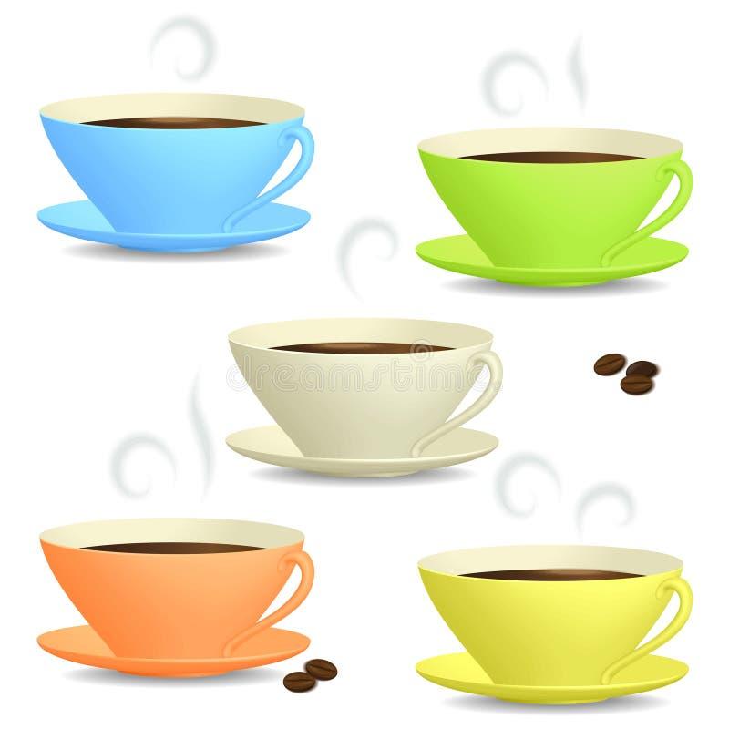 Φλιτζάνια του καφέ διανυσματική απεικόνιση