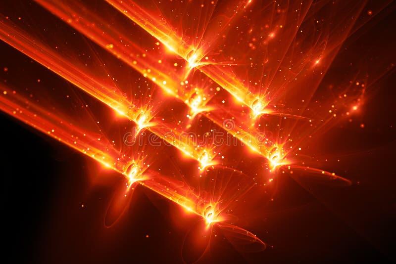 Φλογερό καμμένος κβαντικό αφηρημένο υπόβαθρο όπλων απεικόνιση αποθεμάτων