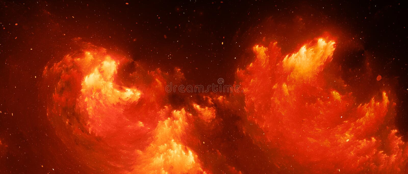 Φλογερό καμμένος fractal νεφελώματος της μεγάλης οθόνης υπόβαθρο απεικόνιση αποθεμάτων