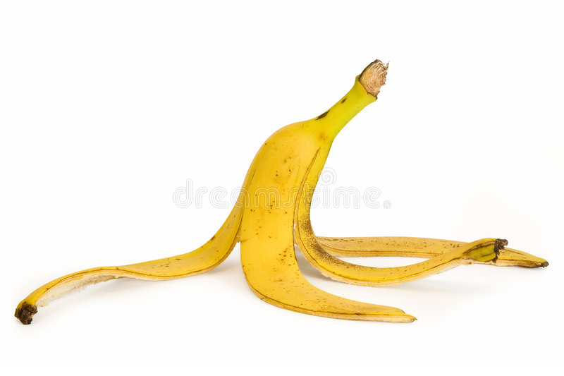φλούδα μπανανών στοκ φωτογραφίες με δικαίωμα ελεύθερης χρήσης