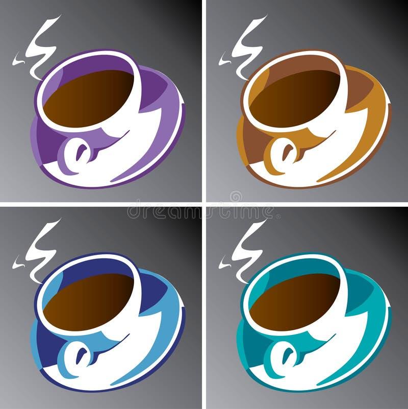 φλυτζάνια καφέ διανυσματική απεικόνιση
