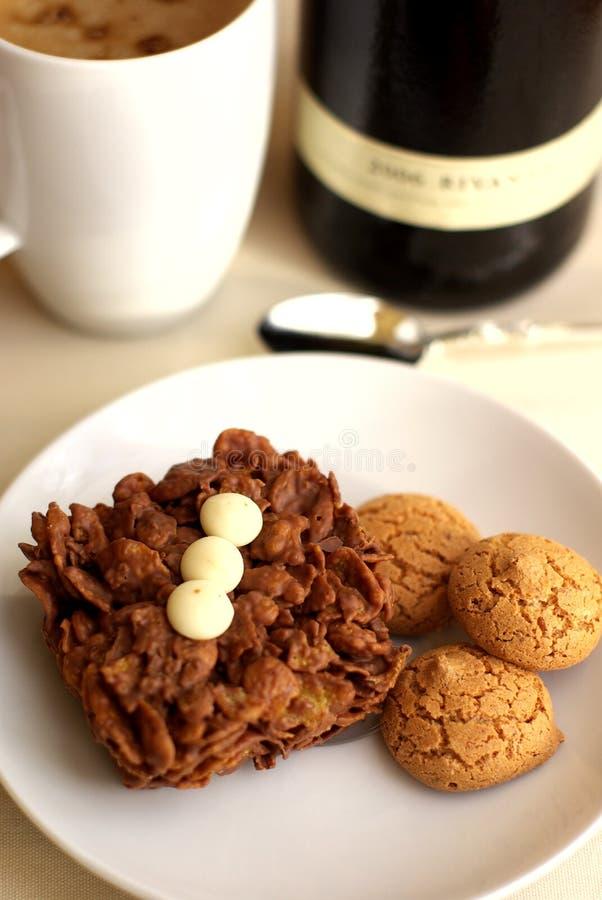 φλυτζάνι καφέ κέικ στοκ φωτογραφίες