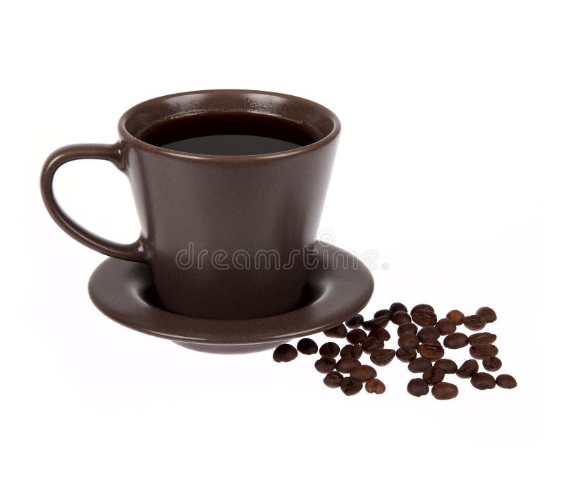 Φλυτζάνι καφέ που απομονώνεται στο λευκό στοκ φωτογραφίες