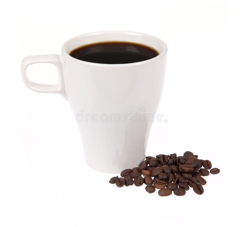 Φλυτζάνι καφέ που απομονώνεται στο λευκό στοκ εικόνα με δικαίωμα ελεύθερης χρήσης