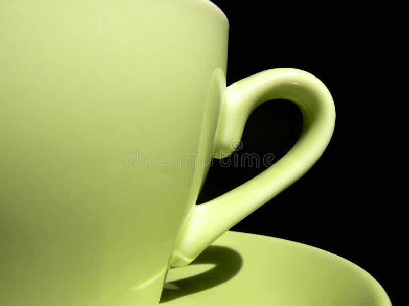 φλυτζάνι καφέ πράσινο στοκ εικόνα με δικαίωμα ελεύθερης χρήσης