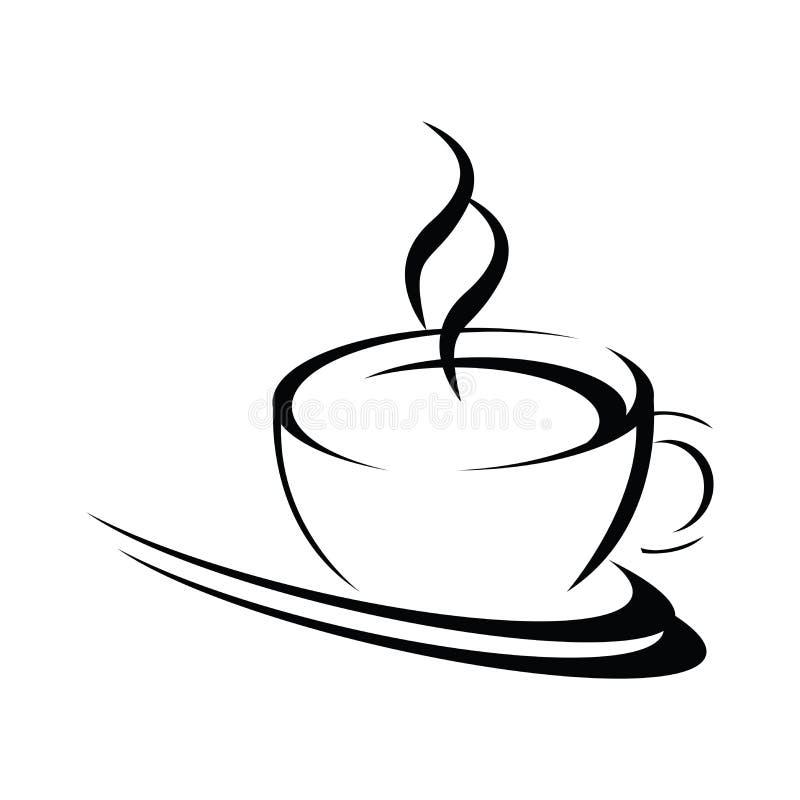 φλυτζάνι καφέ τυποποιημέν&omi διανυσματική απεικόνιση