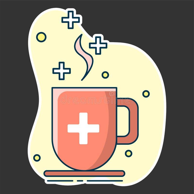 Φλυτζάνι με το βοτανικό τσάι, η έννοια των φυσικών φαρμάκων, της ομοιοπαθητικής και ενός υγιούς τρόπου ζωής ελεύθερη απεικόνιση δικαιώματος