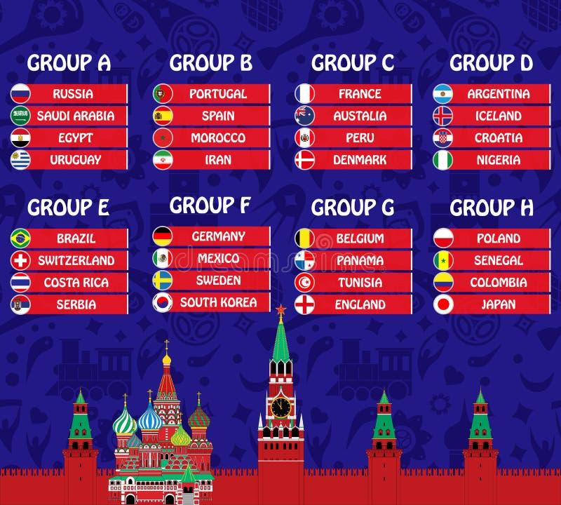 Φλυτζάνι 2018 ποδοσφαίρου ελεύθερη απεικόνιση δικαιώματος