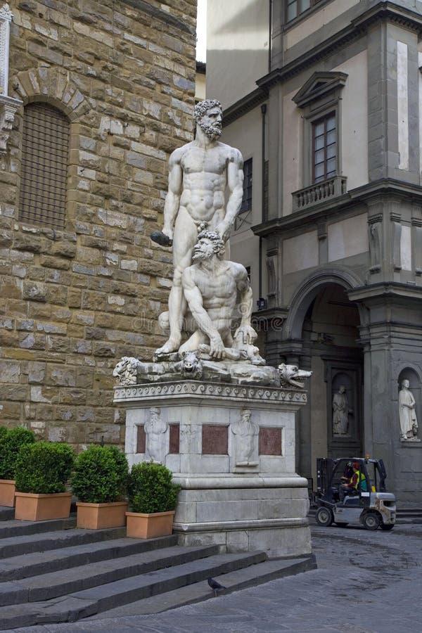Φλωρεντία Ηρακλής και μαρμάρινη γλυπτική στοκ φωτογραφία με δικαίωμα ελεύθερης χρήσης