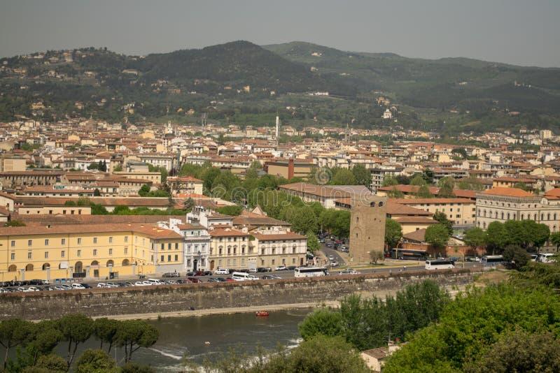 Φλωρεντία, Ιταλία - 24 Απριλίου 2018: άποψη σχετικά με τις στέγες της Φλωρεντίας στοκ φωτογραφίες με δικαίωμα ελεύθερης χρήσης