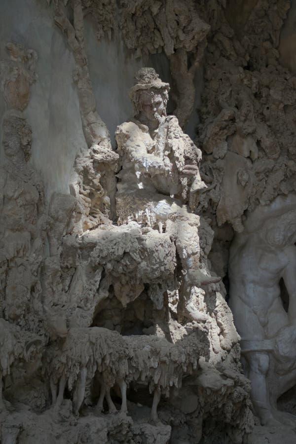Φλωρεντία, Ιταλία - 23 Απριλίου 2018: εσωτερική άποψη σχετικά με Grotta Di Buontatenti στοκ εικόνα