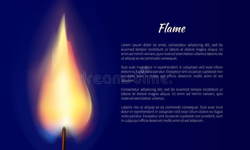 Φλόγα από τη διανυσματική απεικόνιση κεριών με το κείμενο διανυσματική απεικόνιση