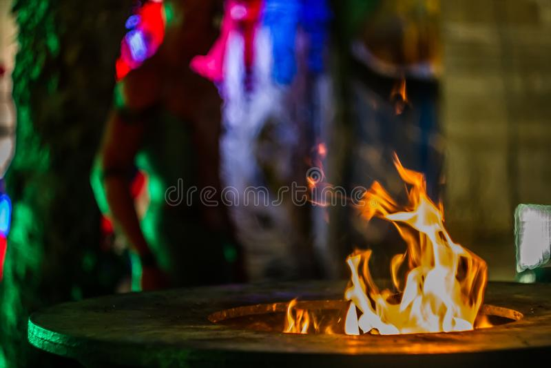 Φλόγα και χρώματα που συνδυάζονται στοκ εικόνες με δικαίωμα ελεύθερης χρήσης