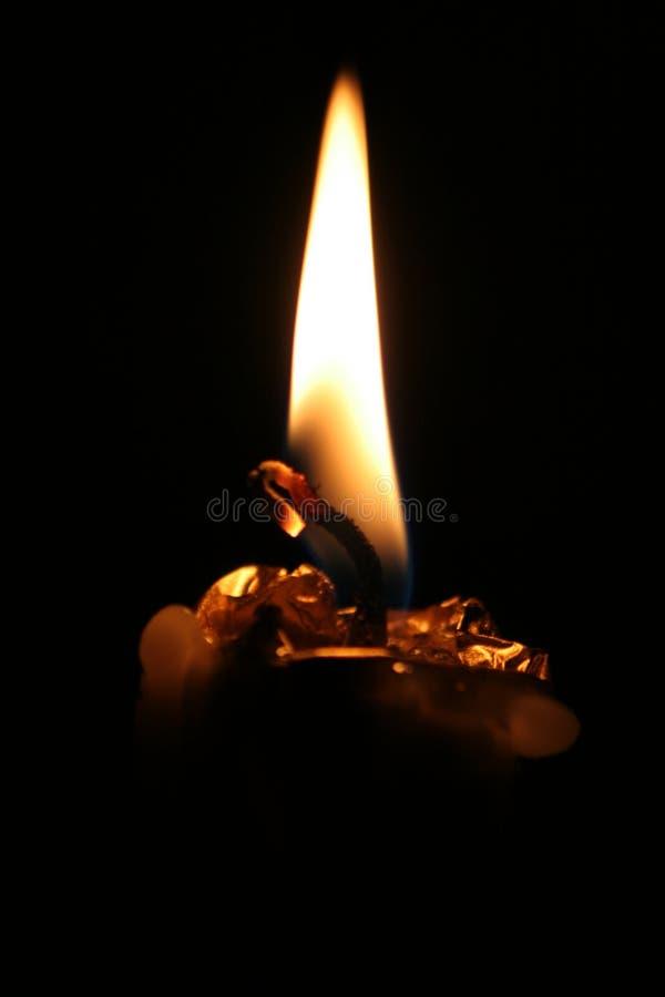 φλόγα κεριών στοκ εικόνα