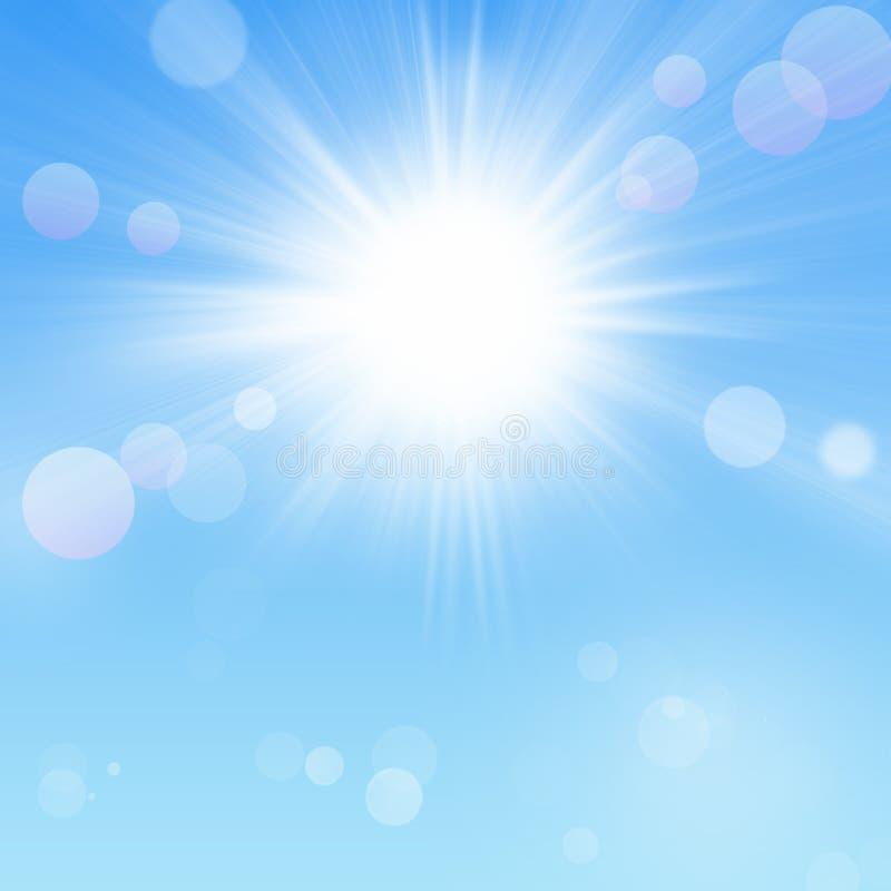 Φλόγα μπλε ουρανού και ήλιων απεικόνιση αποθεμάτων