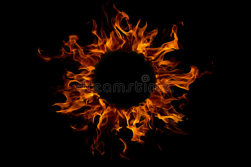 φλόγα πυρκαγιάς που απο&mu στοκ εικόνα