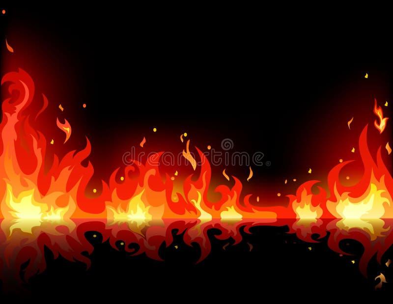 φλόγα πυρκαγιάς διανυσματική απεικόνιση