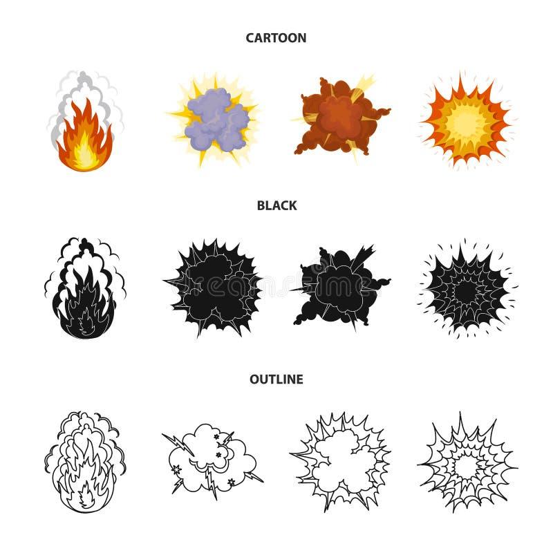 Φλόγα, σπινθήρες, τεμάχια υδρογόνου, ατομική ή έκρηξη αερίου, καταιγίδα, ηλιακή έκρηξη Τις εκρήξεις καθορισμένες τη συλλογή ελεύθερη απεικόνιση δικαιώματος