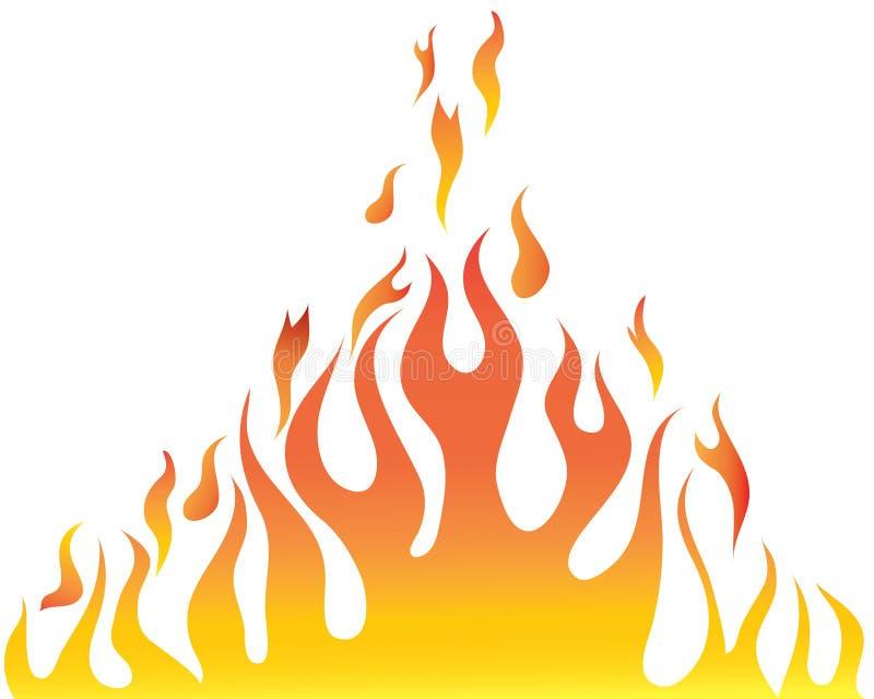 φλόγα σωμάτων διανυσματική απεικόνιση
