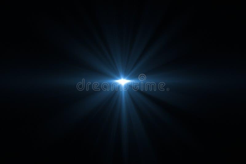 Φλόγα φακών που απομονώνεται στο Μαύρο διανυσματική απεικόνιση