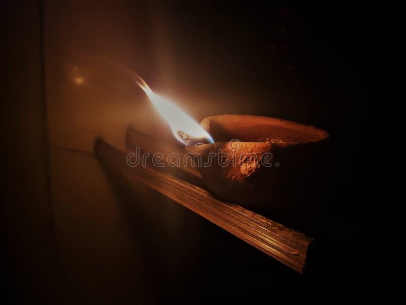 Φλόγα Diwali στοκ φωτογραφία με δικαίωμα ελεύθερης χρήσης