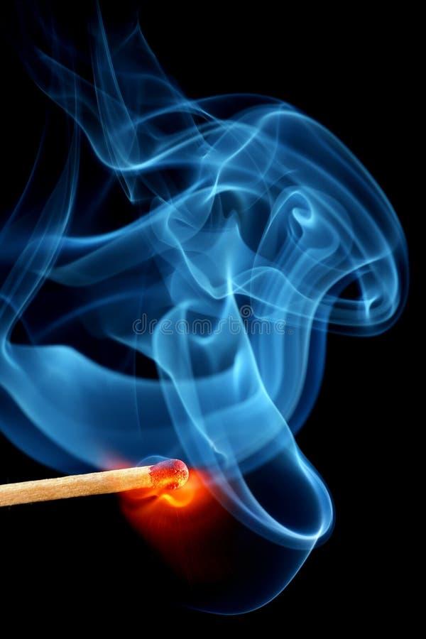 φλόγα matchstick στοκ φωτογραφίες