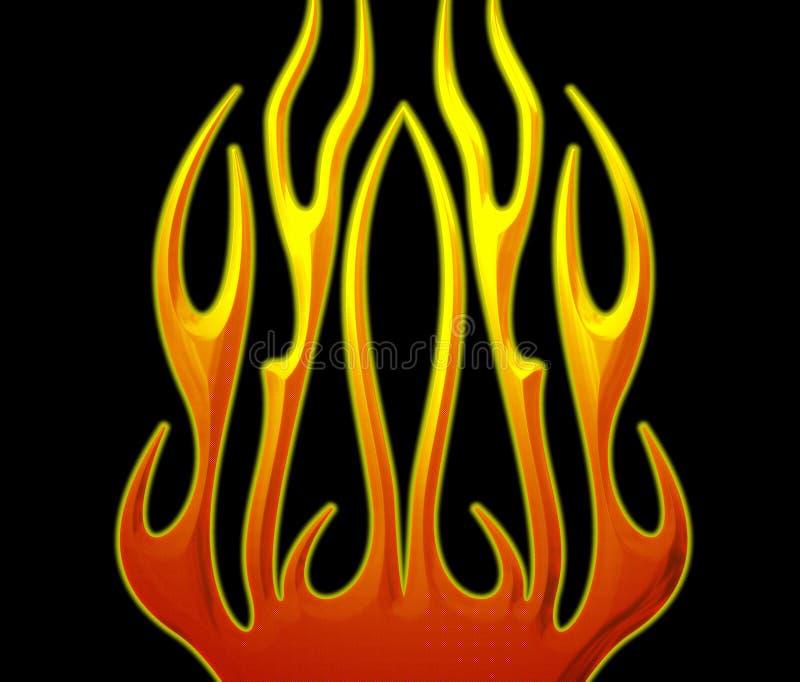 φλόγες ανασκόπησης διανυσματική απεικόνιση