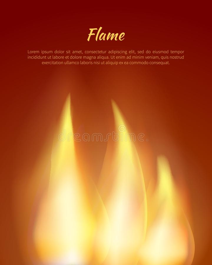 Φλόγες από τη διανυσματική απεικόνιση κεριών με το κείμενο διανυσματική απεικόνιση