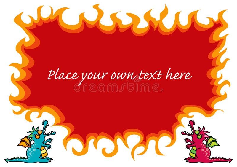 φλόγες δράκων μαγικές ελεύθερη απεικόνιση δικαιώματος