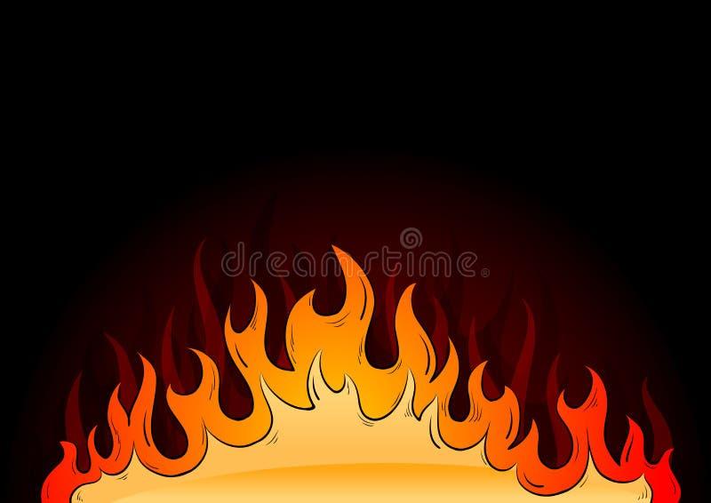 φλόγες καυτές διανυσματική απεικόνιση