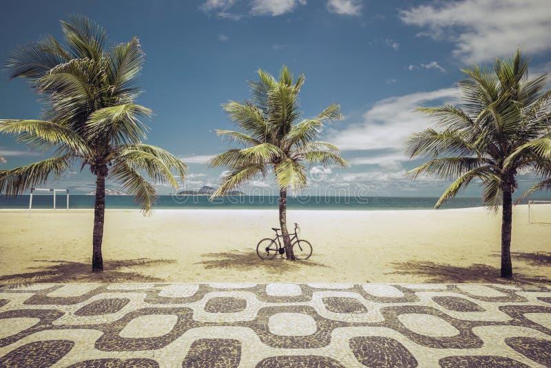 Φοίνικες στην παραλία Ipanema στο Ρίο ντε Τζανέιρο στοκ εικόνες