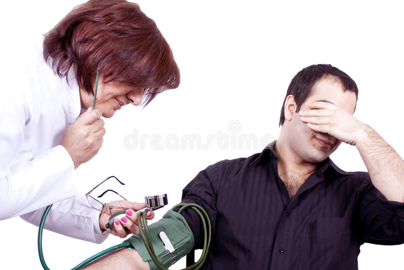 φοβία γιατρών στοκ φωτογραφία με δικαίωμα ελεύθερης χρήσης