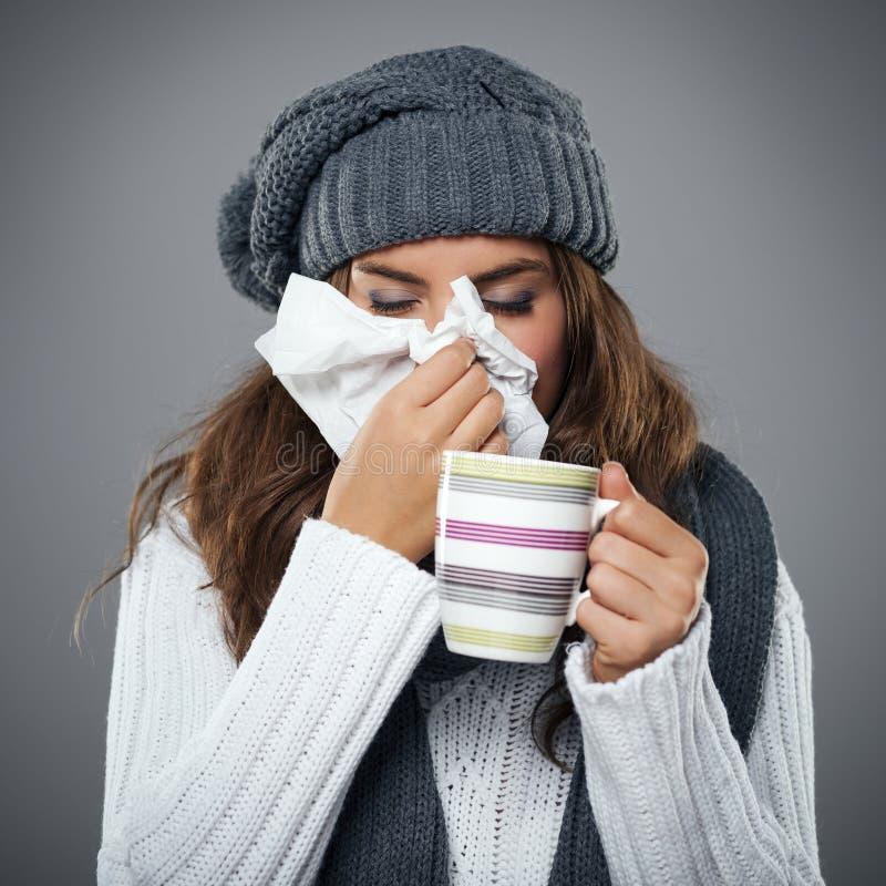 Φοβερή γρίπη στοκ εικόνες