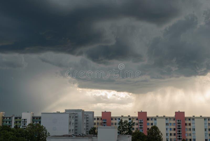 Φοβερός καιρός στο Μόναχο - Neuperlach στοκ εικόνα
