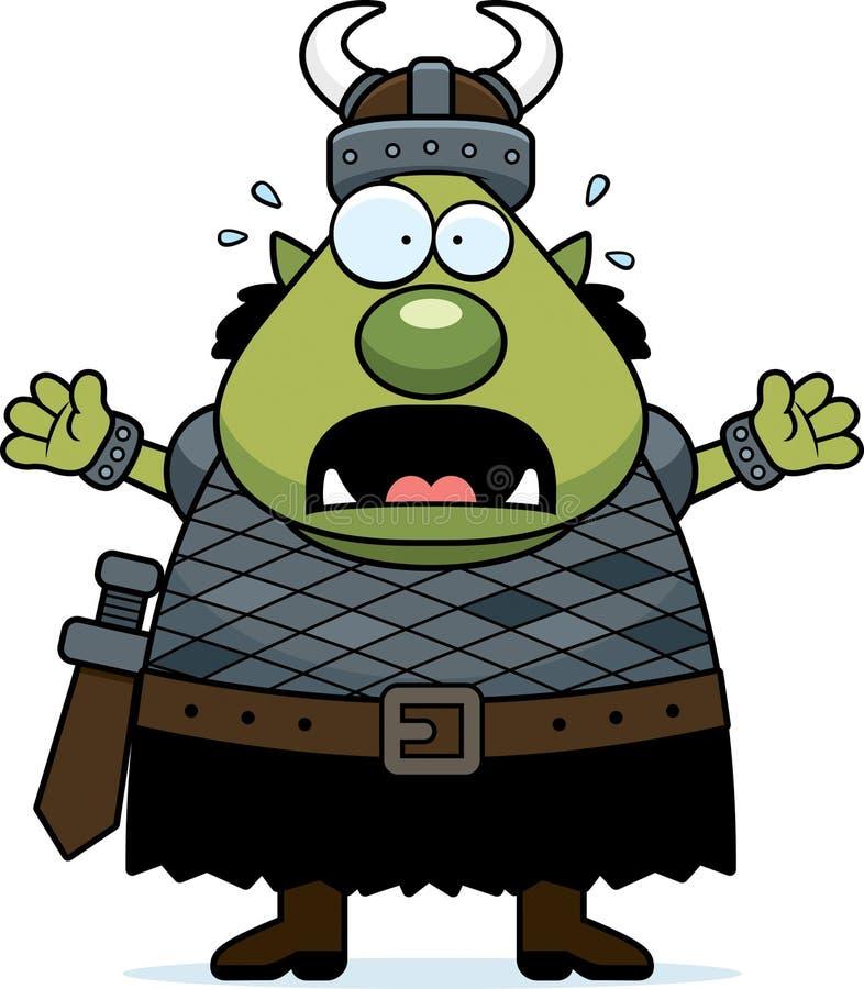 Φοβησμένα κινούμενα σχέδια Orc ελεύθερη απεικόνιση δικαιώματος