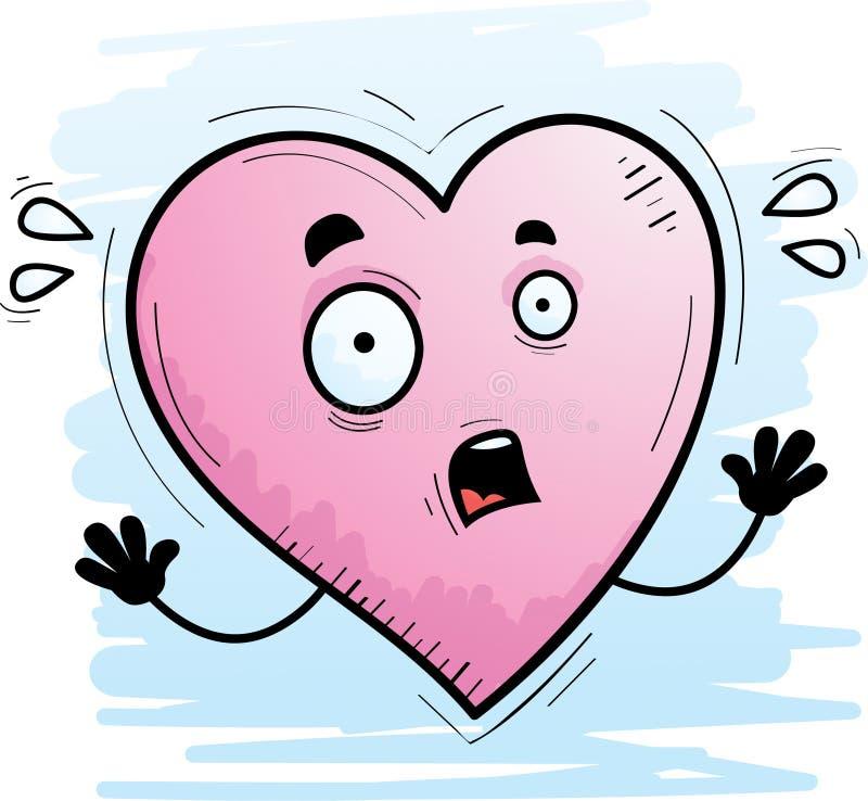Φοβησμένη καρδιά κινούμενων σχεδίων διανυσματική απεικόνιση
