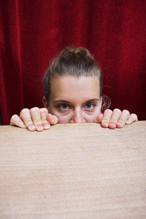 φοβησμένη πρόσωπο γυναίκα έκφρασης στοκ φωτογραφία