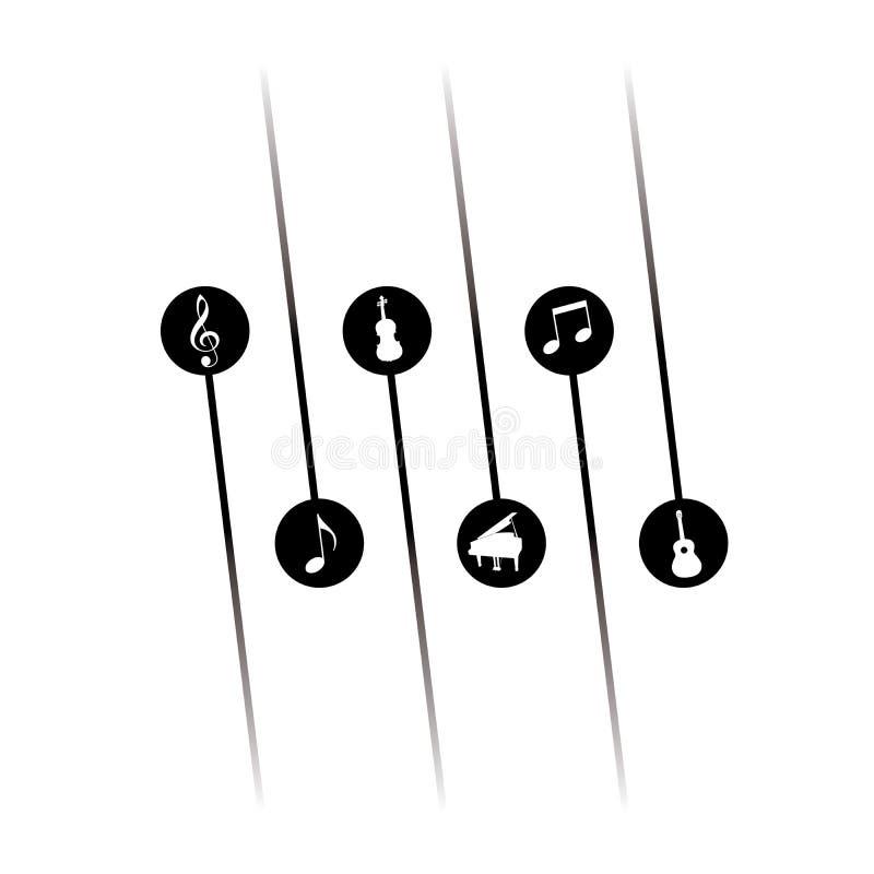 Φοβιτσιάρες υπόβαθρο μουσικής διανυσματική απεικόνιση