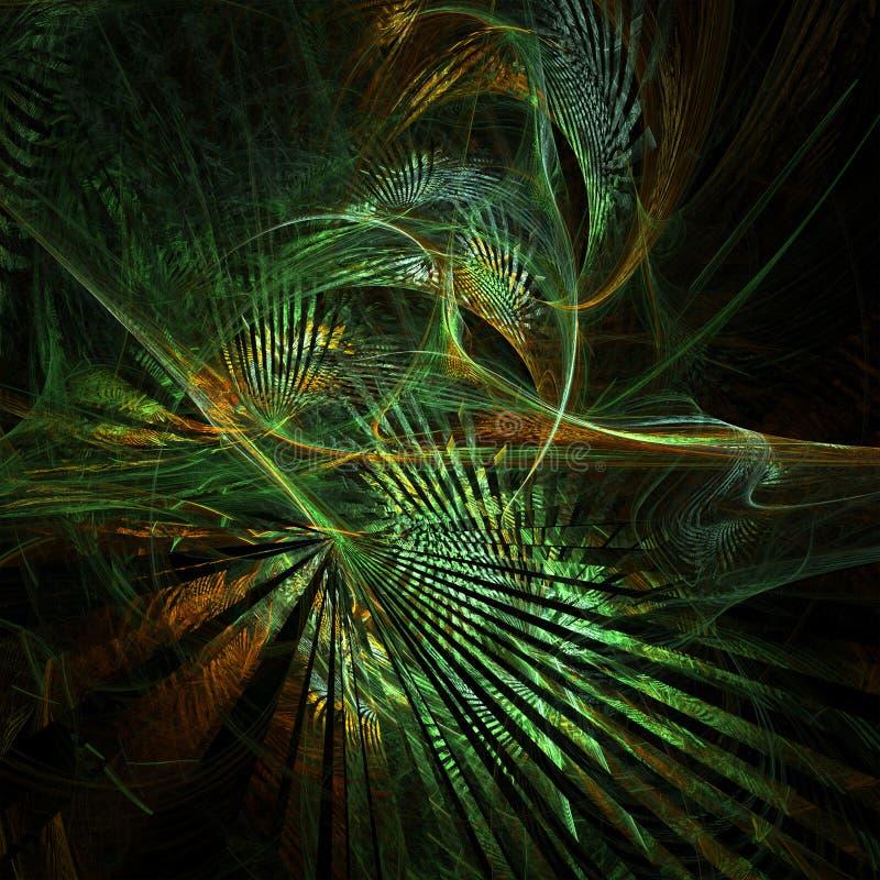 Φοβιτσιάρες fractal δάσος διανυσματική απεικόνιση