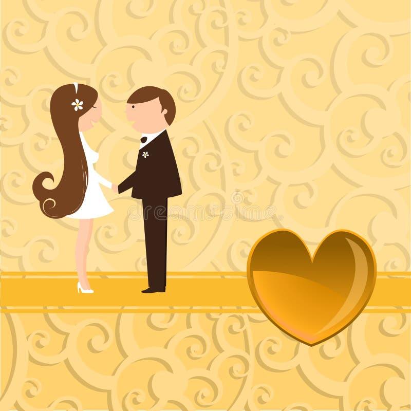 φοβιτσιάρης γάμος πρόσκλ&eta απεικόνιση αποθεμάτων