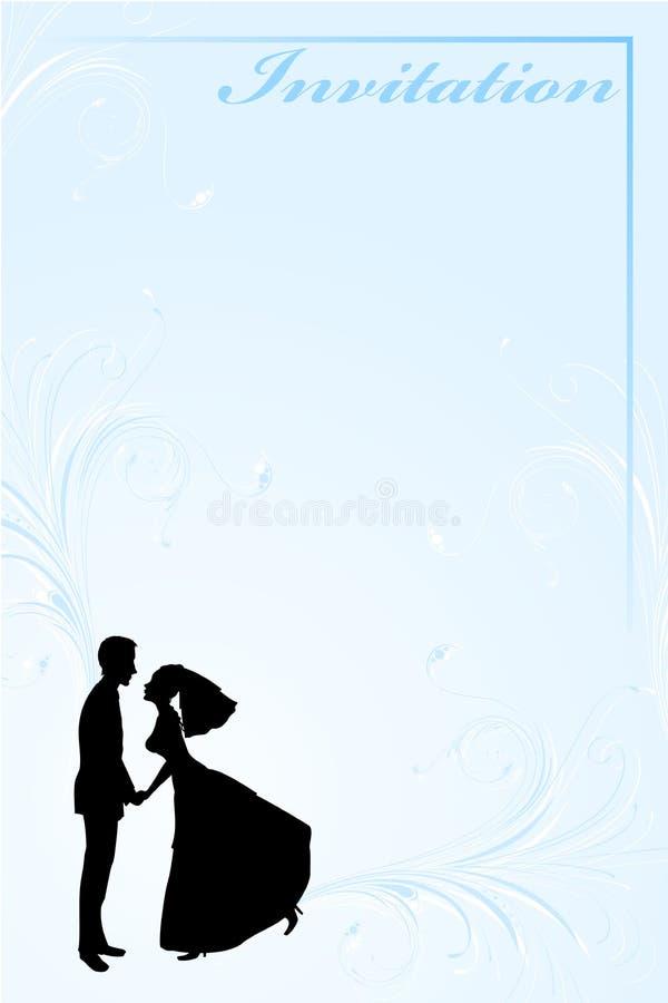 φοβιτσιάρης γάμος πρόσκλ&eta διανυσματική απεικόνιση