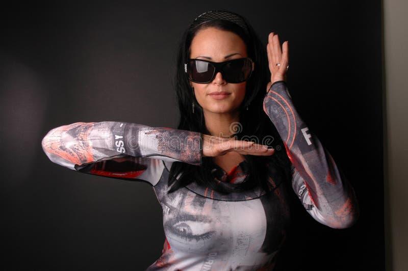φοβιτσιάρης γυναίκα φορ&eps Στοκ Εικόνες