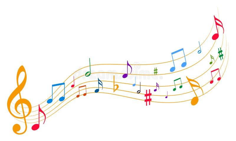 φοβιτσιάρης μουσική ανα&sig διανυσματική απεικόνιση