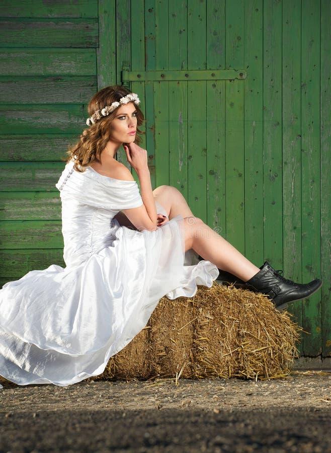 Φοβιτσιάρης νύφη στοκ φωτογραφία με δικαίωμα ελεύθερης χρήσης